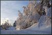 Winterstraße in Norwegen am Vormittag