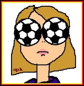 Fußball-Zuschauerin 1