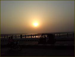 Sonnenuntergang am Ganges
