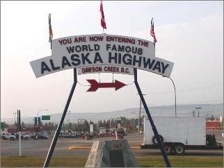 Start Alaska Highway, Kanada