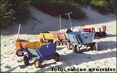 Bild Kinderkarren am Strand