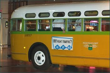 Der Bus, in dem Rosa Parks saß,