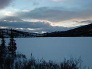 Stiller Winter-See