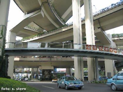 Straßenbrücken, Shanghai
